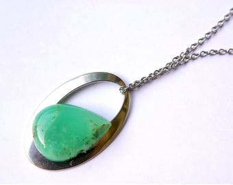 Natural Chrysoprase Jewelry, Chrysoprase Necklace, Chrysoprase gemstone, Gift for Her, birthstone
