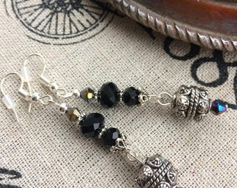 Edwardian Style Crystal Earrings