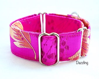 DAZZLING - Special occasions martingale collar, Fancy sighthound collar, Greyhound collar