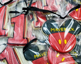 Mickey Mouse Cookies with Name (12 lg)