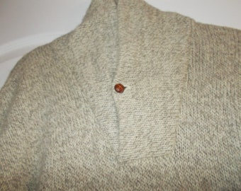 Vintage Lord & Taylor Alumni Shop L mens high back collar sweater