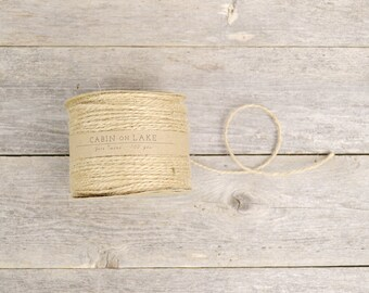 Natural Jute Twine / Rustic Wedding Twine / Tan Twine / Natural String - 100 yards