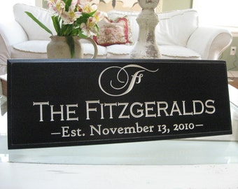 Last Name Sign | Family Name Sign | Custom made Sign | Personalized Name Sign | Established Date Sign | Family Name Plaque | Date Sign