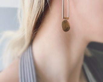 CIVAL Collective - Theia | Earring | Mod Brass | CIVAL Jewelry Designs | Drop Earrings