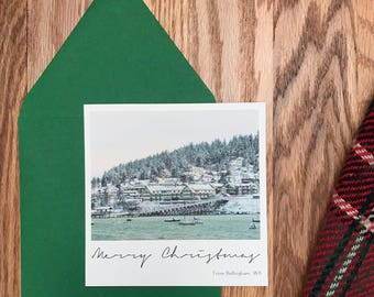 Christmas Photo Card - Merry Christmas - 5x5 Square