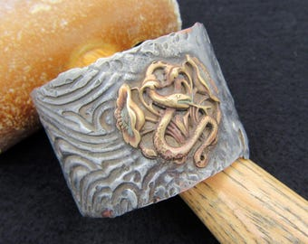 OOAK  Handmade Copper Serpent Bracelet