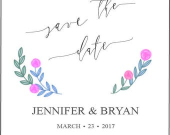 save the date custom PRINT, download