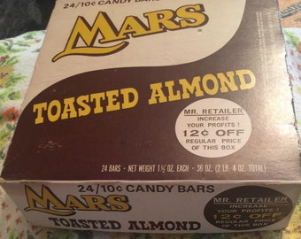 Vintage Mars Toasted Almond Advertising 2 pc box for Kitchen Dining Display