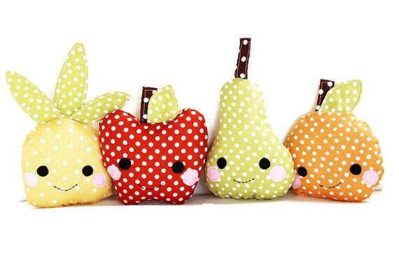Items similar to Toy Sewing Pattern - Kawaii Mini Fruit Pattern ...