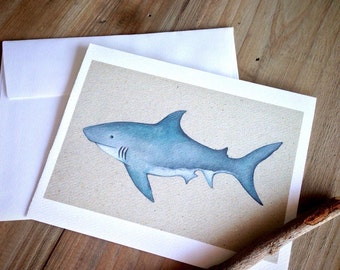 Great White Shark: Blank Stationery