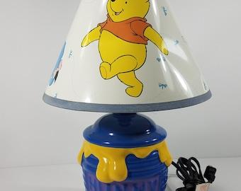 Winnie the Pooh ceramic Hunny pot decrative lamp nursery childrens room decor Works
