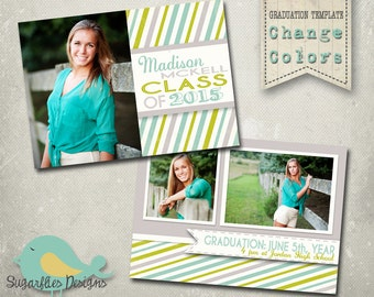 Graduation Announcement PHOTOSHOP TEMPLATE -  Senior Graduation 36