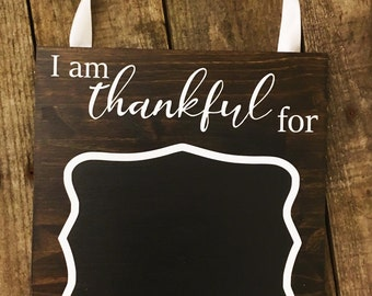 Thanksgiving Chalkboard Sign - Wooden Thanksgiving Sign - Wood Thanksgiving Sign - Gratitude Sign - Thanksgiving Decor - Fall Home Decor