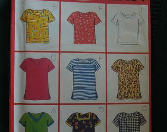 Butterick 5013, sizes XS -medium, UNCUT sewing pattern, craft supplies, pullover tops, misses