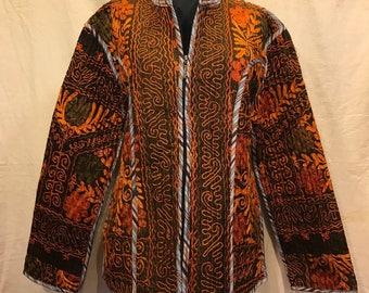 Uzbek jacket kaftan vintage ethnic tribal jacket coat