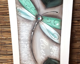 Dragonfly painting .