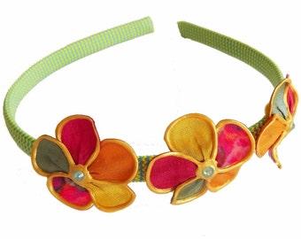 Sunshine and Lollypops trio blossoms headband