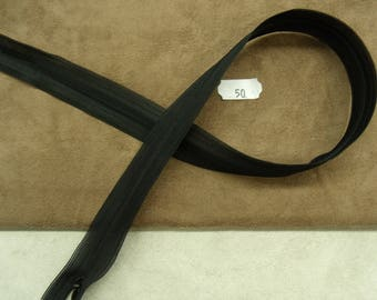 Invisible zipper - 50 cm-black