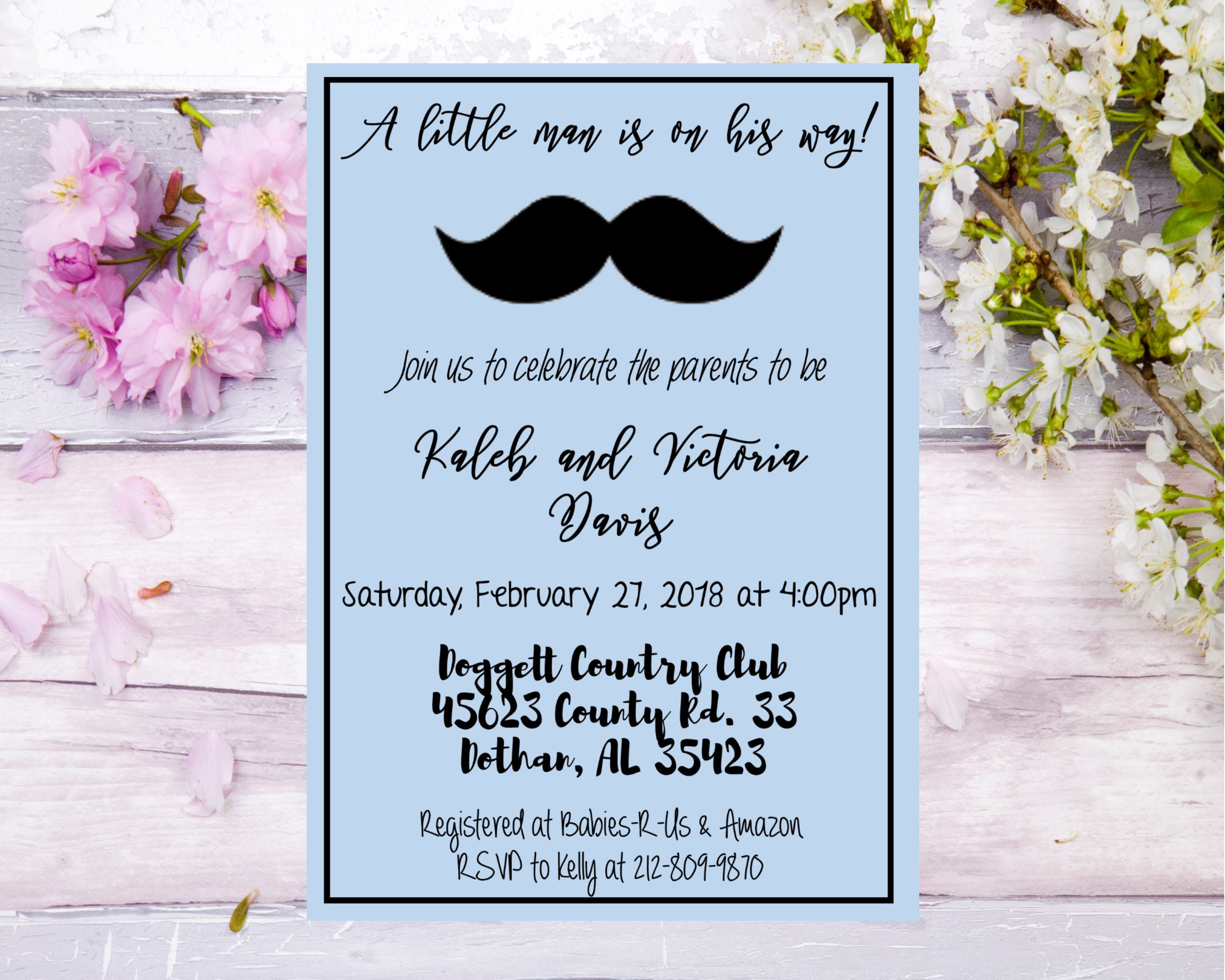 Baby shower invitation mustache boys baby shower little man on the baby shower invitation mustache boys baby shower little man on the way baby shower theme blue baby shower filmwisefo Image collections