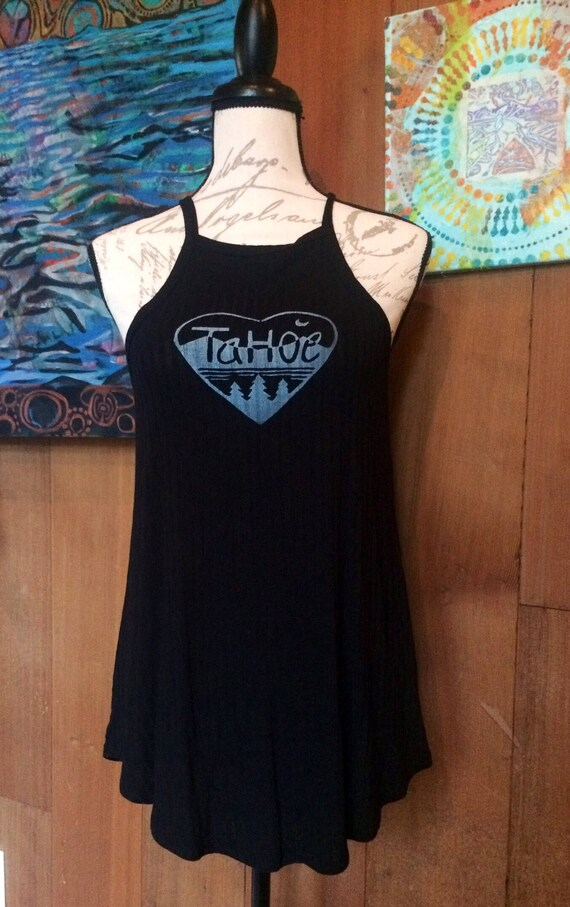 Tahoe Love strappy tank-beach cover up