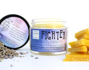 Facial Cleanser 2oz - Makeup Remover - Facial Moisturizer - Proceeds to Charity - Soap-Free Oil Cleansing method - Facial Cleansing Balm