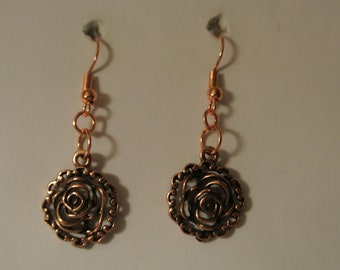 Rose Gold Rose with Rose Gold Fishhook