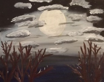 Moon over the apple trees