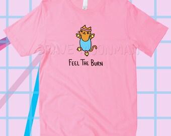 Katze Shirts für Frauen fühlen die brennen-Katze-Geschenke für ihre süßen Tees für Frauen lustige Workout Shirt Kitty Shirt Frauen Sprüche auf Shirt
