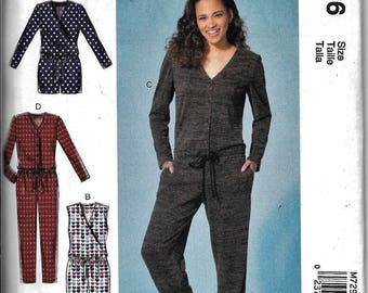 McCall's M7296 Misses Romper And Jumpsuit Sewing Pattern 7296 UNCUT Size 14, 16, 18, 20, 22