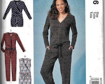 McCall's M7296 Misses Romper And Jumpsuit Sewing Pattern 7296 UNCUT Size 6, 8, 10, 12, 14