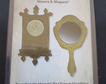 Mini Mirror & Wall Clock Die - Tim Holtz Sizzix Alterations 658724