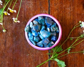 Medium Chrysocolla Tumbled Gemstone Polished Blue Green Healing Crystal Meditation Stone Pocket Rock MIneral Specimen Throat Chakra