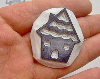 Big house stamp house rubber stamp village rubber stamp country house stamp building rubber stamp cute house stamp diy cardmaking houses