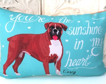 Boxer Art Pillow- You're The Sunshine In My Heart