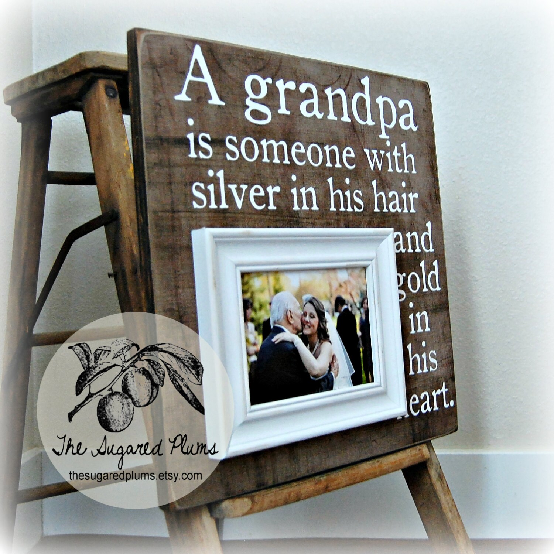 Grandpa Photo Frame Grandfather Grandchild Grandpa PaPa