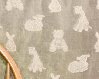 Fabulous cotton nursery fabric   175cm 69 inches wide - Teddies and Bunnies