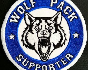 Wolf Pack Supporter Motorcycle Club Support Patch White Wolf Brotherhood 100mm Biker Badge