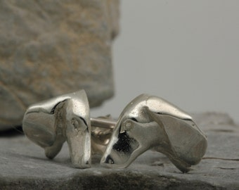 Vakkancs Dachshund earrings (solid sterling islver)