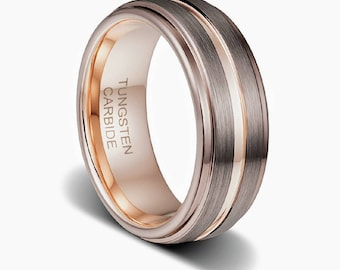 Cappuccino,mens wedding band,rose gold ring,birthday for him,custom ring,promise ring,custom wedding band,custom rings,tungsten wedding band