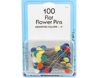 Quilting Pins - Flower Pin, Flat Pin, Pin Weaving - Size 32,  2-inch, 100ct  - Collins # 155C