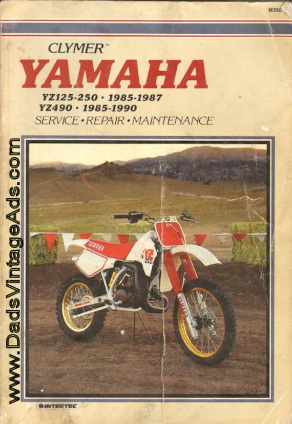 1985-1987 Yamaha YZ125 & YZ250 / 1985-1990 YZ490 Clymer Service Manual #mm93