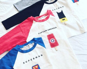Super Hero Ice Pop Long Sleeve T-Shirt