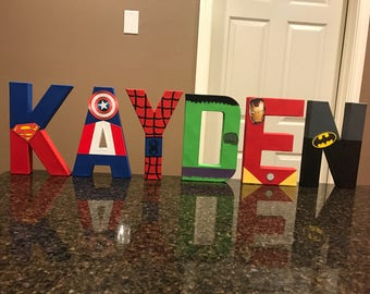 Avengers Super Heroes Custom Name Letters - price is per letter