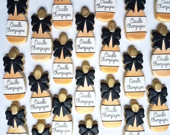 Champagne Cookie Favors