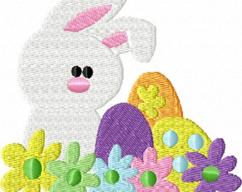 Easter Bunny - A Machine Embroidery Design for Easter