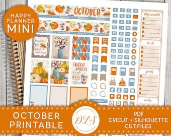 October Mini Happy Planner, October Monthly Sticker Kit, October Monthly Printable, October Planner Stickers, Mambi Planner Stickers, MM120