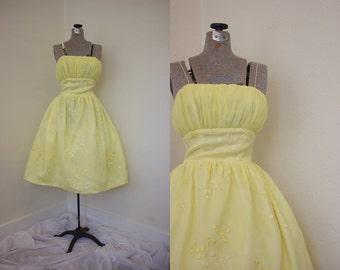 1950s A-Line Dress // Vintage Prom Dress // 50s Dress // Vintage 50s // Vintage Homecoming Dress