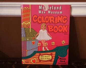 MOVIELAND WAX MUSEUM Coloring Book (1966)