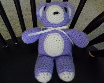 Crocheted Teddy Bear - lavender