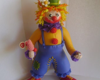 Handmade OOAK Clay Clown